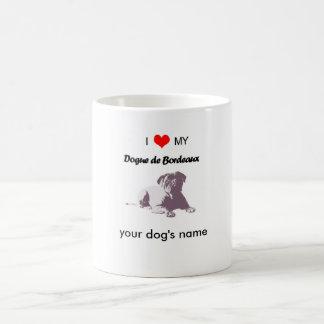 Anpassningsbar älskar jag min Dogue de Bordeaux Kaffemugg