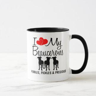 Anpassningsbar älskar jag min tre Beaucerons Mugg