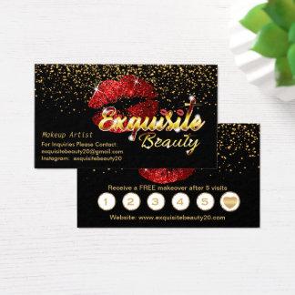 Anpassningsbar beställer - guld- konfettiar & nätt visitkort