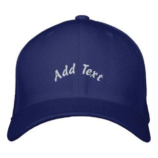 Anpassningsbar broderad hatt