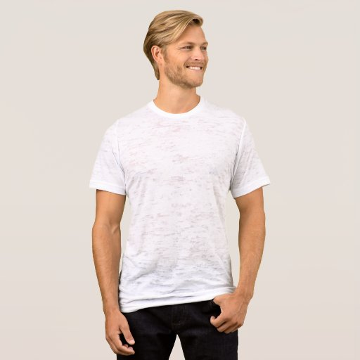 Herr Canvas Kroppsnära Burnout T-Shirt, Vintage-vit