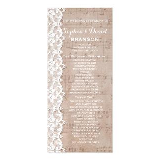 Anpassningsbar för bröllopsprogram för för reklamkort