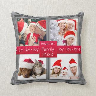 Anpassningsbar för Collage | för god julsilverfoto Kudde