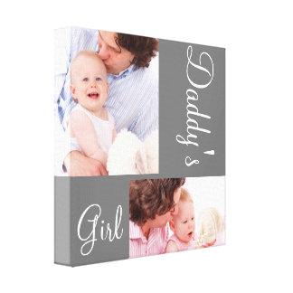 Anpassningsbar för flicka för familjCollagepappor Canvastryck