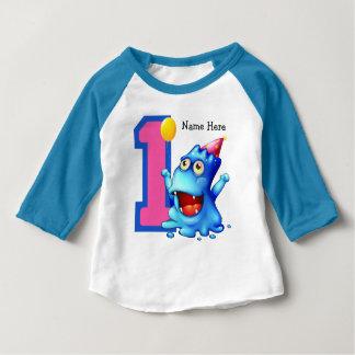 Anpassningsbar för födelsedag för blåttmonster 1st tee shirt