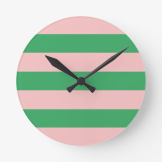 Anpassningsbar för format   för rosa- & rund klocka