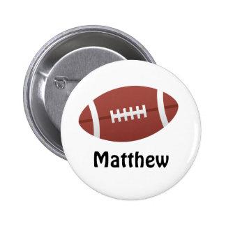 Anpassningsbar för namn för tecknadfotbollpersonli standard knapp rund 5.7 cm