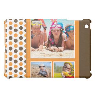 Anpassningsbar för Polkadot fotoCollage (orangen) iPad Mini Mobil Fodral