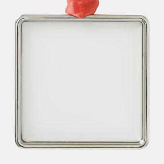 Anpassningsbar Fyrkantig Julgransprydnader Silverfärgad Fyrkantigt Julgransprydnad