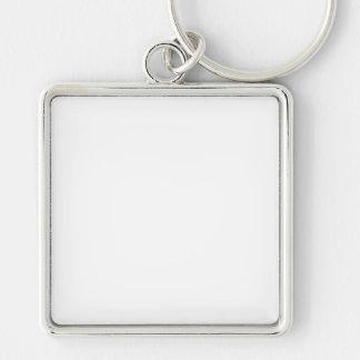 Anpassningsbar Fyrkantig Nyckelring