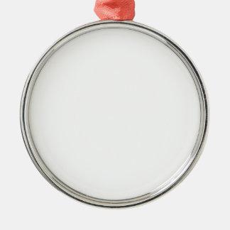 Anpassningsbar Julgransprydnader Rund Silverfärgad Julgransprydnad