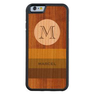 anpassningsbar känt och initialt på-trä för M Carved Körsbär iPhone 6 Bumper Skal