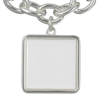 Anpassningsbar kvadrerar berlockarmbandet berlockarmband