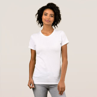 Anpassningsbar Large Dam Scoop Neck T Shirt