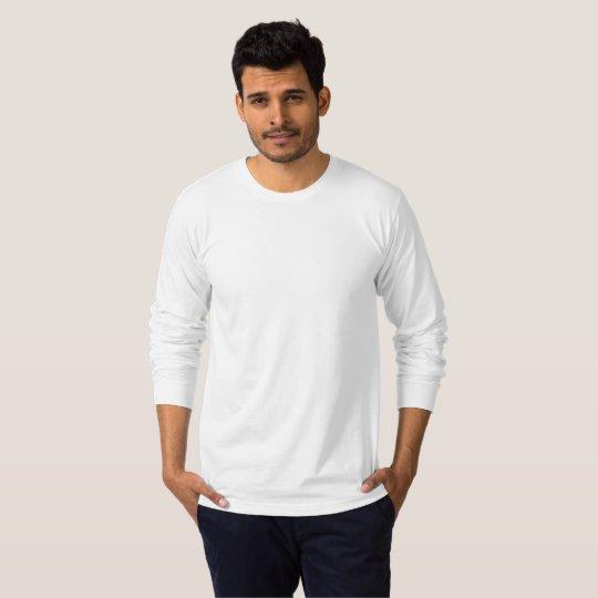 American Apparel Fine Jersey Långärmad T-Shirt, Herr, Vit