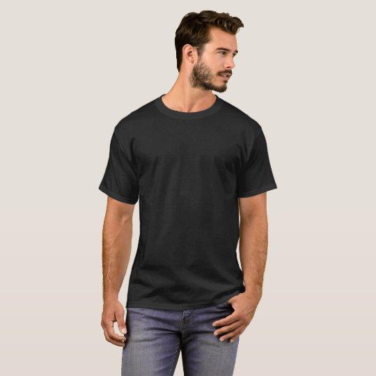 Mörk T-shirt bas, Svart