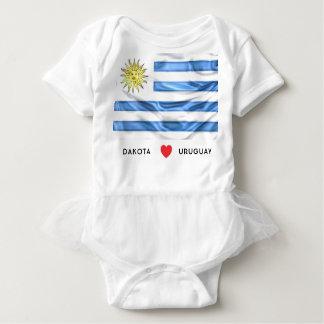 Anpassningsbar mig hjärtaflagga av Uruguay Tee Shirt