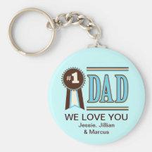 Anpassningsbar numrerar en pappa fars dag Keychain Nyckelring