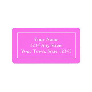 Anpassningsbar Pre-tilltalade rosa- & Adressetikett