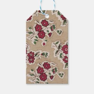 ANPASSNINGSBAR! Röda & gröna blom- gåvamärkre för Presentetikett