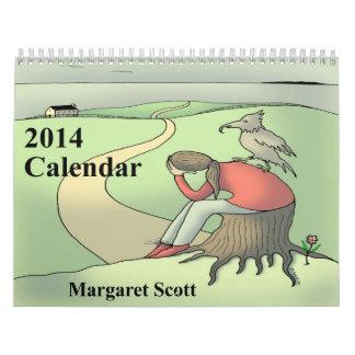 Anpassningsbar skrivev ut kalender 2014