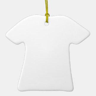 Anpassningsbar T-Shirt Shaped Julgransprydnader Julgransprydnad Keramik
