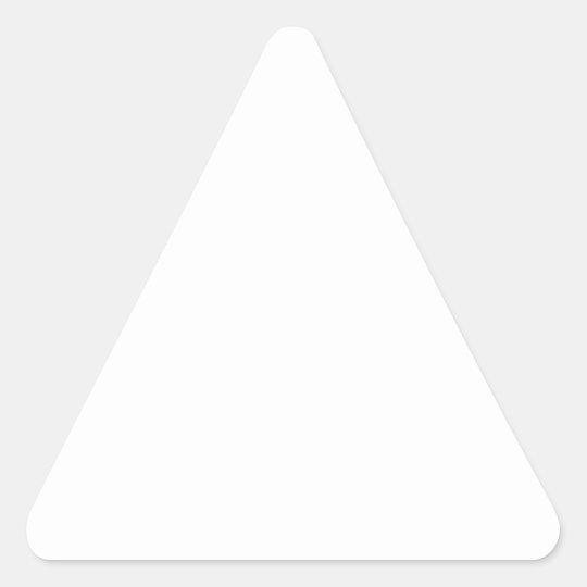 Triangel Klistermärken, Glansig