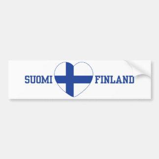 Anpassningsbarbildekal för SUOMI FINLAND Bildekal