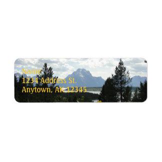Anpassningsbarreturetiketter för Mt. Moran Returadress Etikett