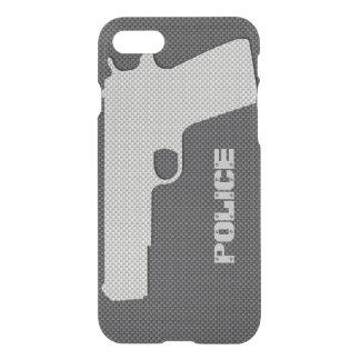 Anpassningsbarsvart och vapen för polis för grå iPhone 7 skal
