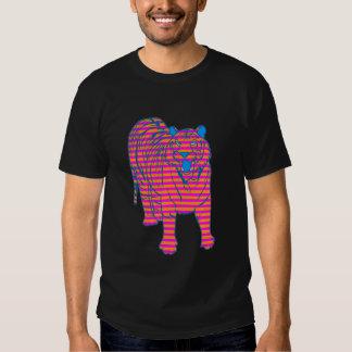 ANSEENDE för TIGER för COREY-TIGER80-tal RANDIGT T-shirt