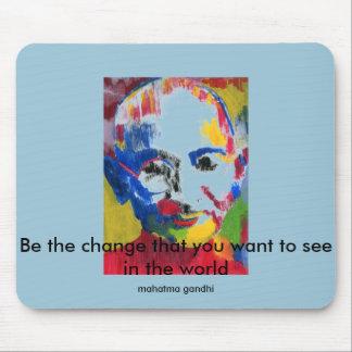 Ansikte av färger Mahatma Gandhi Mousepad Musmatta
