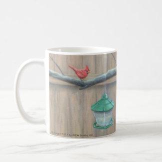 """""""Ansikte av"""" kardinal- & ekorrekonstmuggen Kaffemugg"""