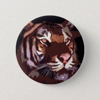 Ansikte av tigern standard knapp rund 5.7 cm