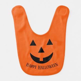 Ansikte för babyHaklapp-Halloween pumpa Hakklapp