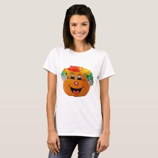 Ansikte för clown för jackolykta, Halloween pumpa T-shirts