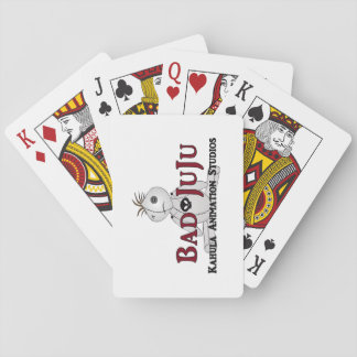 Ansikte för dåligaJuJu standart index som leker Spel Kort