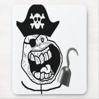 Ansikte för ensam pirat för för evigt komiskt musmatta