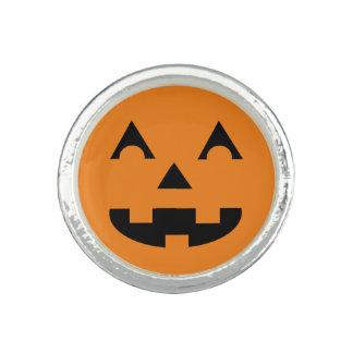 Ansikte för Halloween jack o lanternpumpa Foto Ring