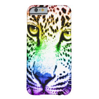 Ansikte för Leopard för Corey tiger80-tal Barely There iPhone 6 Skal