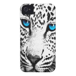 Ansikte för Leopard för Corey tiger80-tal (vit) iPhone 4 Fodraler