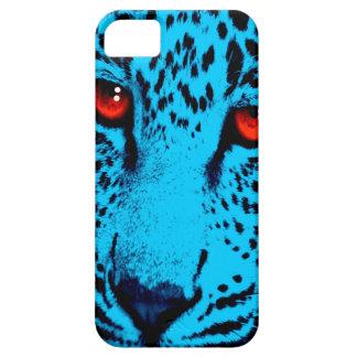 Ansikte för Leopard för neon för Corey tiger80-tal iPhone 5 Fodral