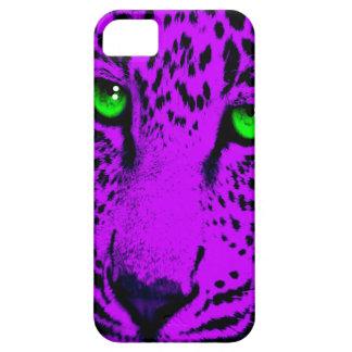 Ansikte för Leopard för neon för Corey tiger80-tal iPhone 5 Case-Mate Cases