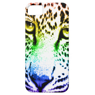 Ansikte för Leopard för neon för Corey tiger80-tal iPhone 5 Case-Mate Cases