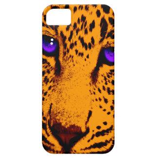 Ansikte för Leopard för neon för Corey tiger80-tal iPhone 5 Case-Mate Skydd