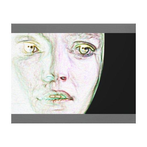 ansikte-honom kanvasduk med gallerikvalitet