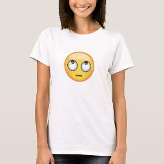 Ansikte med rullande ögon Emoji Tee Shirt