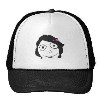 Ansikte Meme för ursinne för Derpina svart hårbrun Baseball Hat