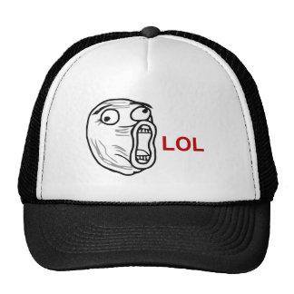 Ansikte Meme för ursinne för LOL-skratt ut högt Baseball Hat