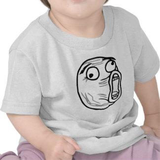 Ansikte Meme för ursinne för LOL-skratt ut högt Tshirts